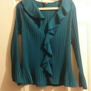 EAST 5TH AVE. DARK TEAL BLOUSE SIZE 1X